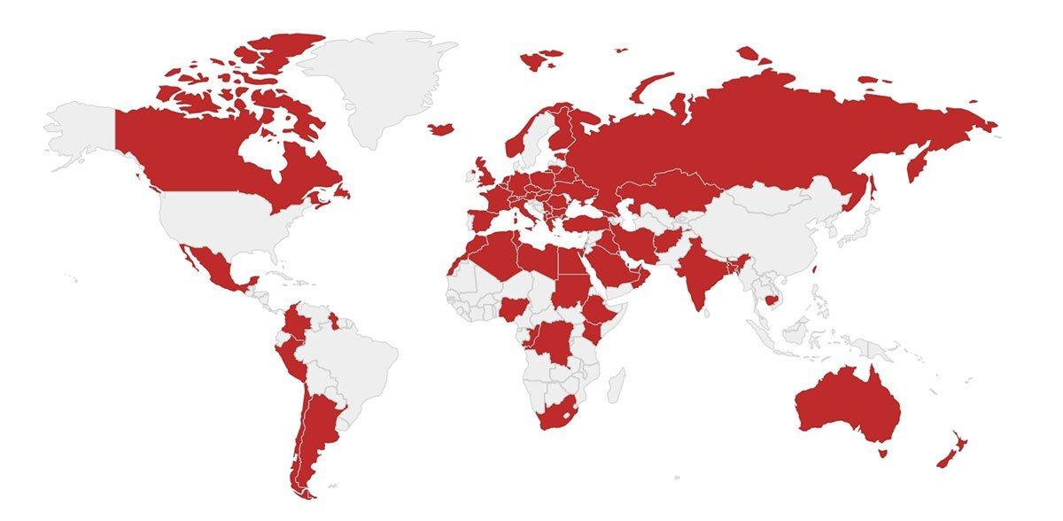 Graziadio weltweit